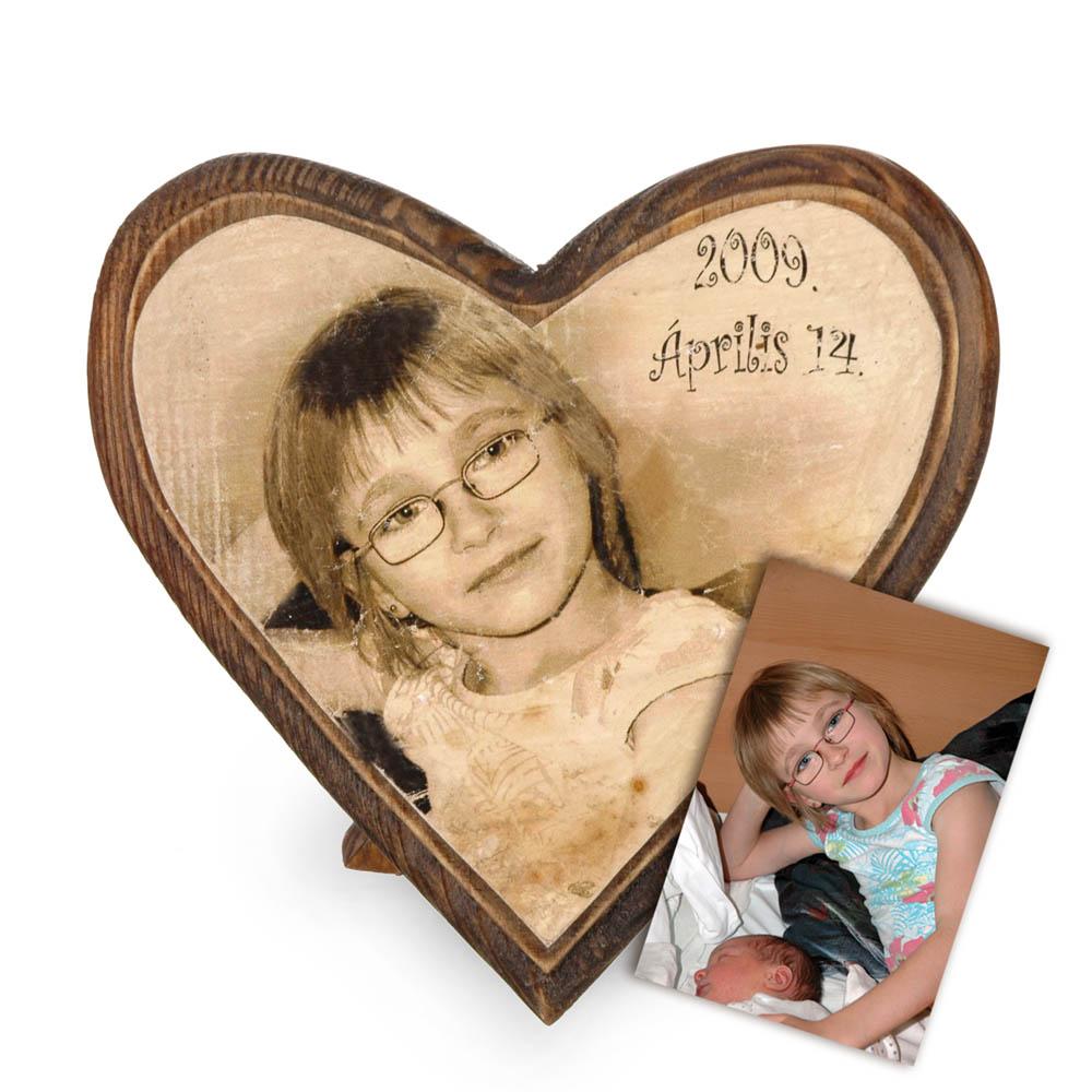 Egyedi szív alak ajándék