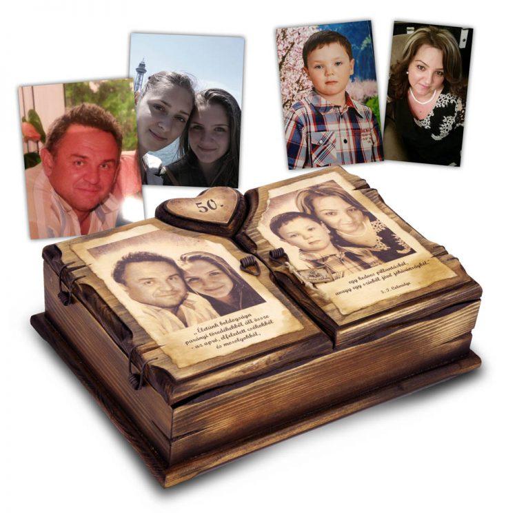 Fényképes ajándék doboz
