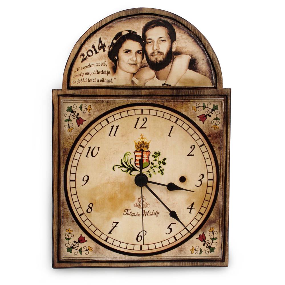 Fényképes ajándék óra