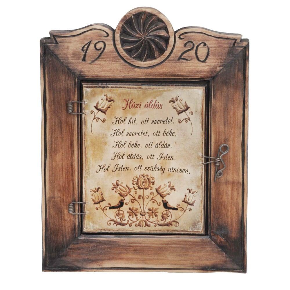 Házi áldásos fali szekrény