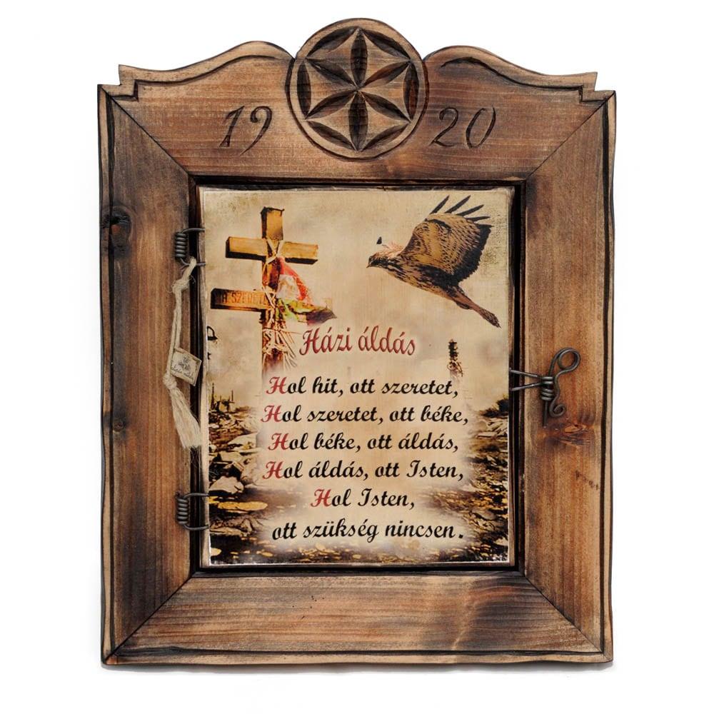 Házi áldásos fali téka