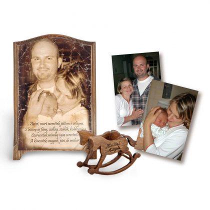 Fényképes ajándék babaszületésre