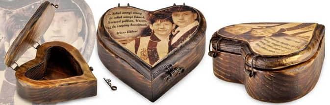 Szív alakú egyedi ajándék
