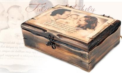 Fából készült fényképes ajándék