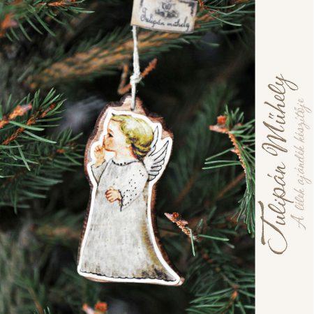 Angyalos karácsonyfadísz