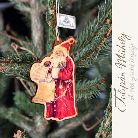 Mikulásos kézműves karácsonyi dísz