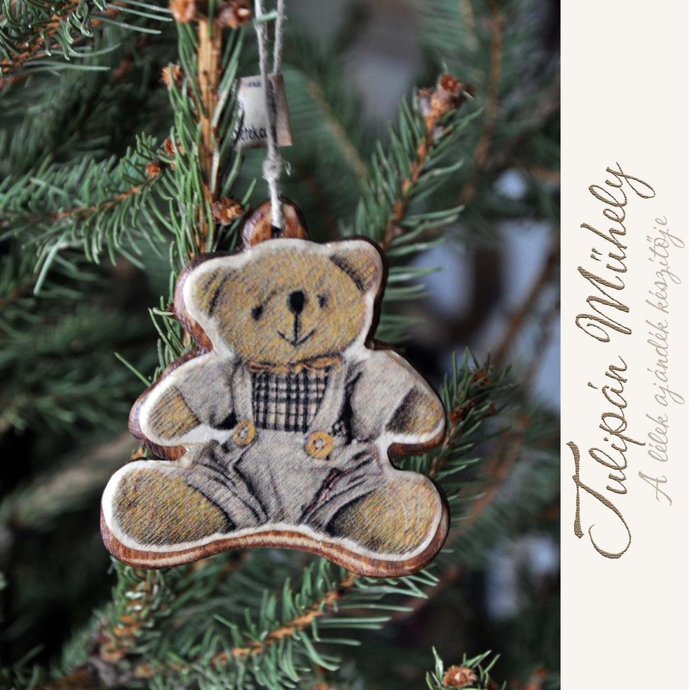 Mackós karácsonyfadísz