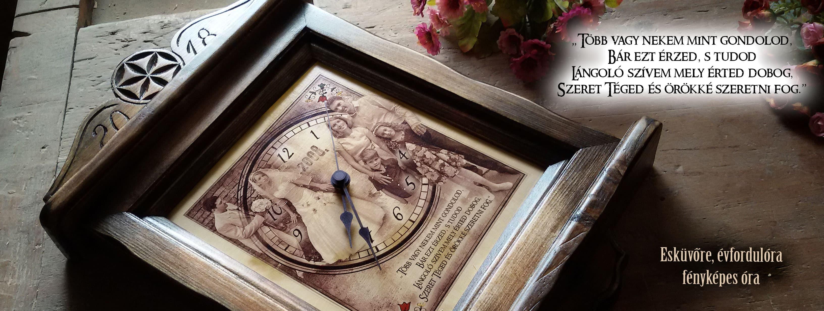 Egyedi fényképes óra